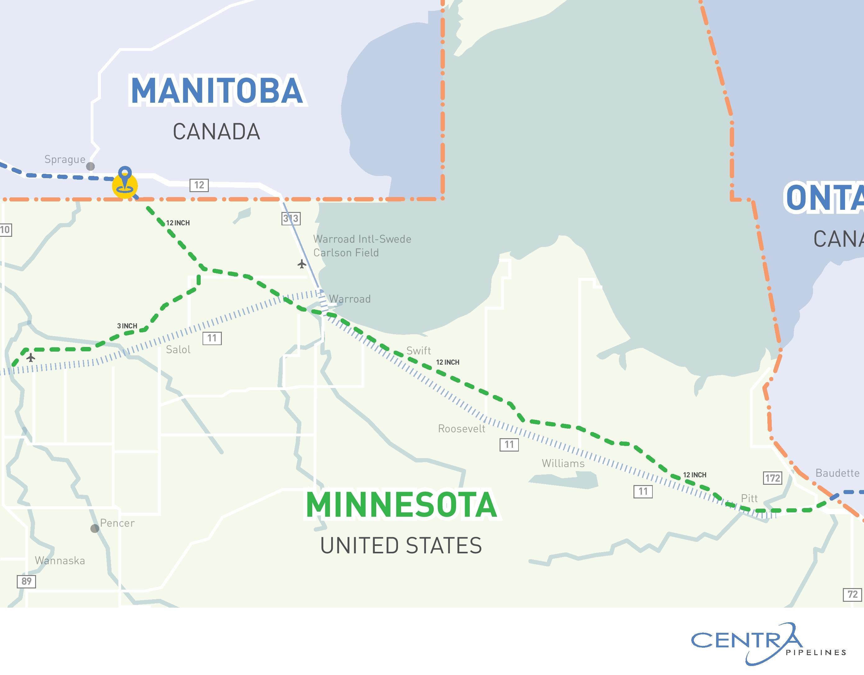 Natural Gas Pipeline Map Minnesota